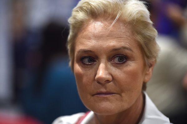 Marie-Caroline Le Pen photographiée à Mantes-la-Ville en 2018.