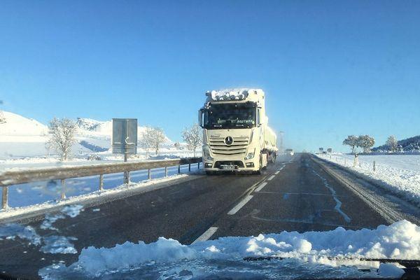 Les conditions de circulation en Haute-Loire se sont améliorées au niveau des nationales mais restent difficiles sur les départementales.