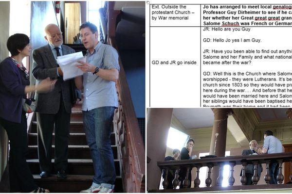 Guy Dirheimer est l'expert du Cercle généalogique d'Alsace (CGA) apparu dans le documentaire de la BBC sur les ancêtres de J.K. Rowling. Il a dû suivre un script très précis.