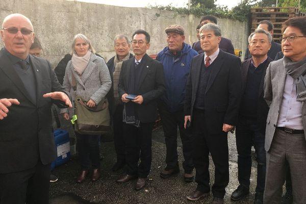 La délégation coréenne en visite à la Quiberonnaise