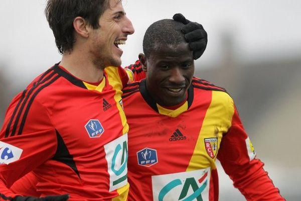 Adamo Coulibaly (à droite) s'est montré décisif en fin de match pour le RC Lens.