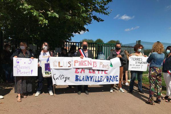 Les parents d'élèves, la mairie et les professeurs se mobilisent pour demander l'ouverture de deux classes au collège de Blainville-Sur-Orne