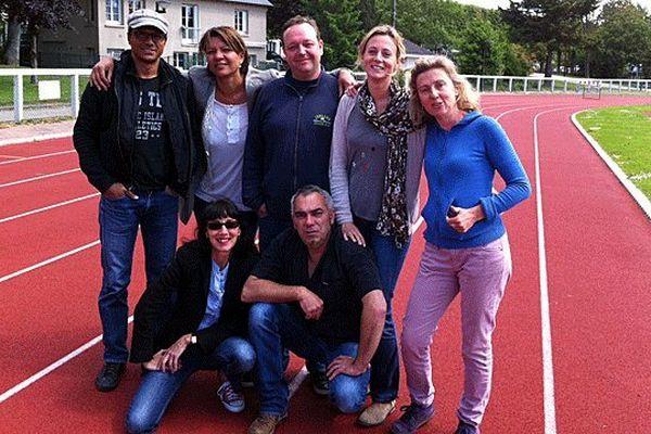L'équipe France 3 basse-Normandie de La Rochambelle : Thierry Cléon, Florine Ebbhah, Pierre-Jean Vergnes, Emilie Flahaut, Hélène Jacques, Natahalie Valin et Eric Morice