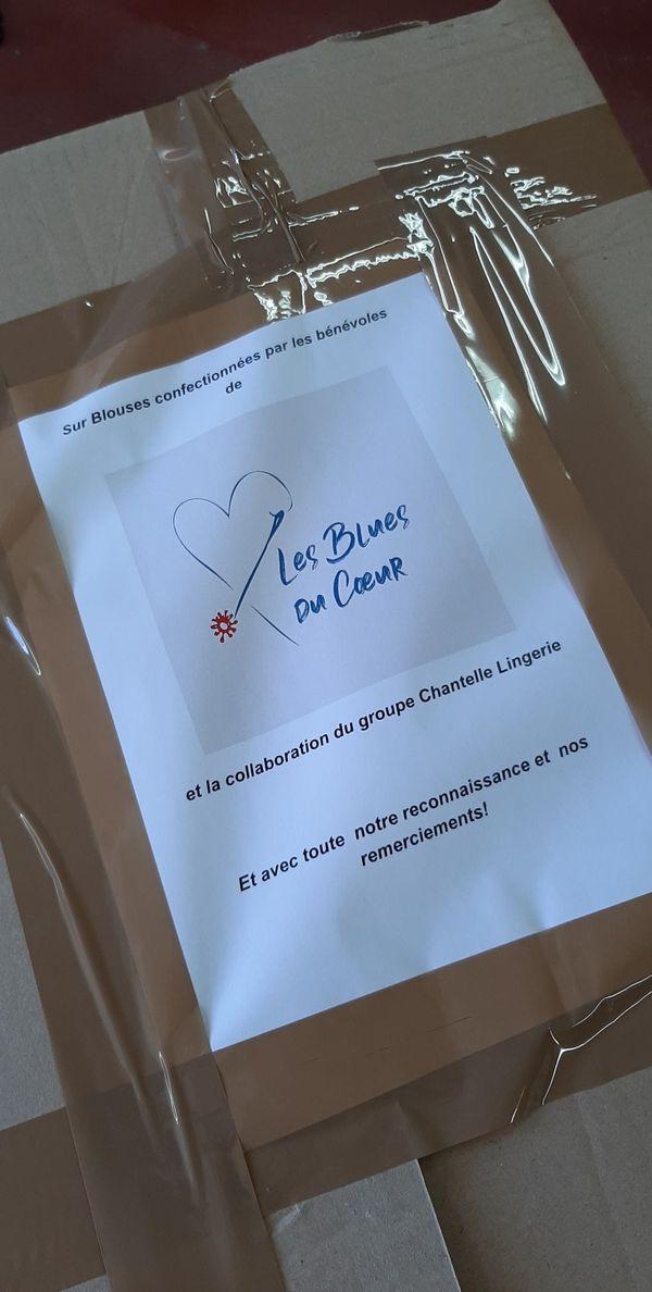 Une fois terminées, les sur blouse sont distribuées les établissements qui en ont le plus besoin autour d'Epernay