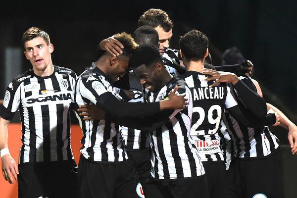 Angers SCO le 18 mars 2017 face à l'EA Guingamp