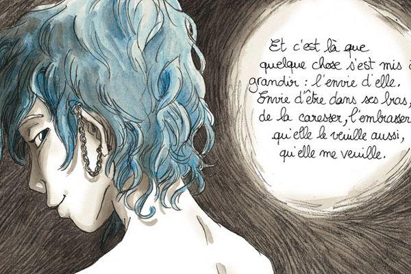 Les bleu est une couleur chaude (Blue is a warm colour), de Julie Maroh, chez Glénat.