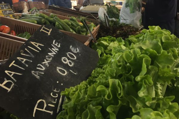 Le marché d'Auxonne, en Côte-d'Or