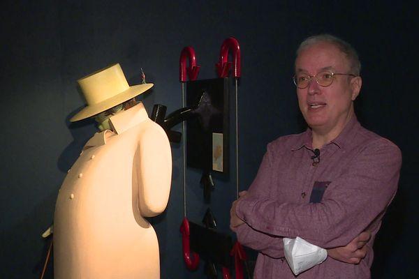 """Quelques journalistes ont eu droit à une visite privée de l'exposition """"Emmanuel Guibert, en bonne compagnie""""."""