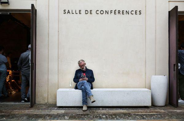 Laurent Chalumeau dans la cour du musée de la Citadelle de Bastia, septembre 2018