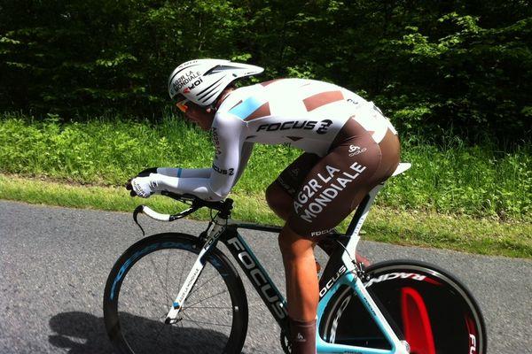 David Edwards, cycliste australien, lors du contre-la-montre de la 10ème édition des Boucles de la Marne