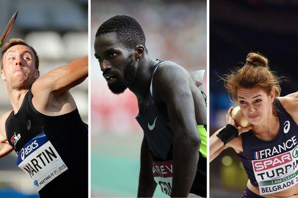 Romain Martin, Kafétien Gomis et Esther Turpin : trois des athlètes Nordistes qui vont participer au championnat européen d'athlétisme.