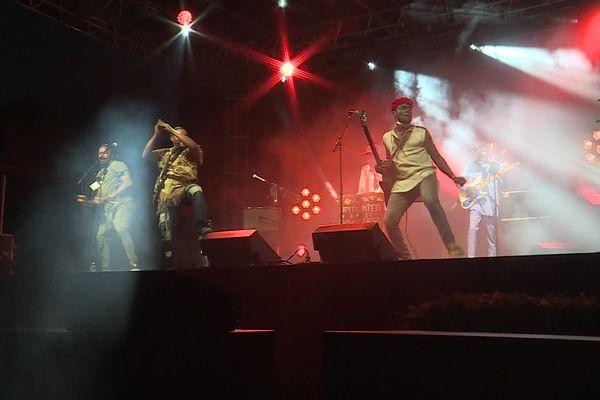 Le Havre - 21 juillet 2021 : Jupiter & Okwess (Congo) sur la scène du festival Moz'aïc