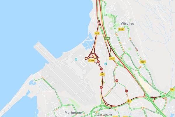 La D20 fermée à la circulation en direction de Marseille à la suite d'un accident mortel