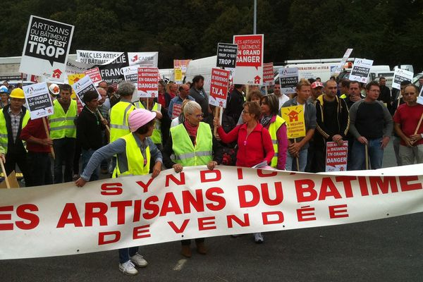 Les patrons de la CAPEB manifestent ce vendredi 13 septembre 2013