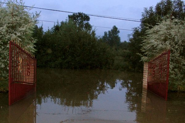 Inondation à Polincove en 2006 chez Virginie et Sylvain Szal.