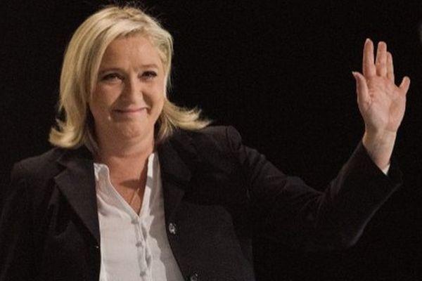 Marine Le Pen à Hénin-Beaumont ce dimanche soir.