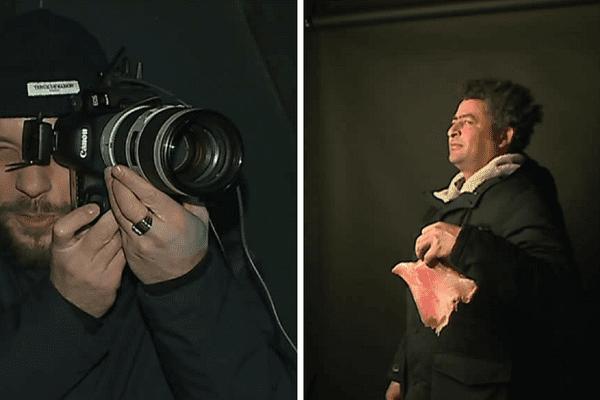 Le photographe Romuald Ducros a saisi les clients des halles Boulingrin de Reims avec leurs victuailles.