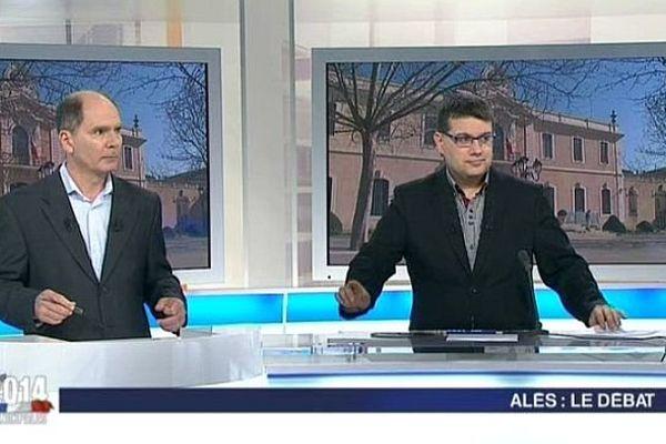 """Eric Félix et Stéphane Ratinaud animent """"La voix est libre"""" spéciale municipales à Alès (Gard)"""