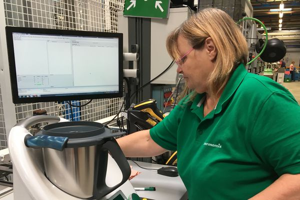 L'usine Vorwerk de Cloyes-sur-le-Loir fabrique le Thermomix TM6.