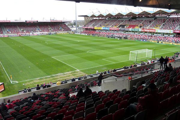 Le stade du Roudourou à Guingamp