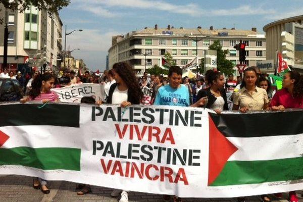 Le rassemblement havrais était organisé par le collectif citoyen de soutien au peuple palestinien