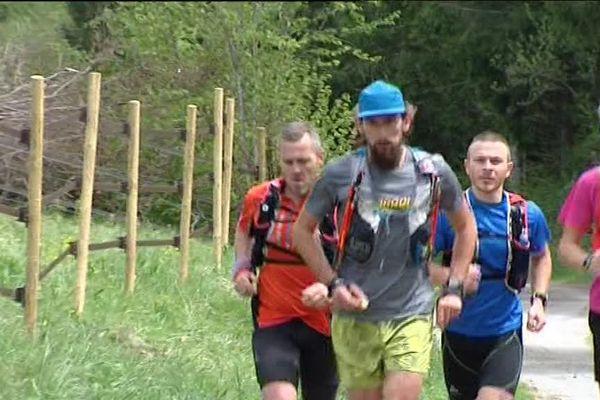 Stéphane Brogniart sur le parcours de la GTJ du Jura
