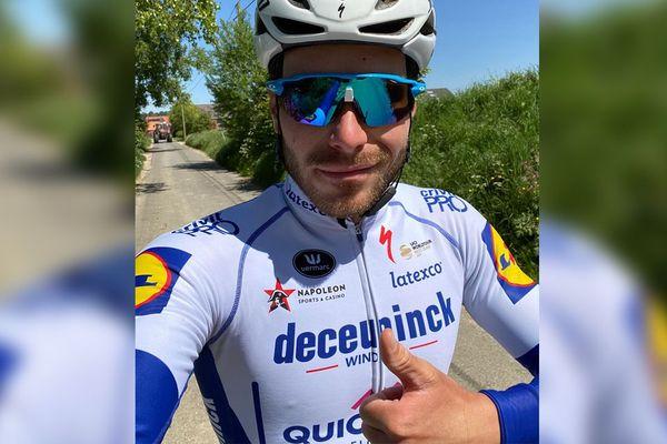 Florian Sénéchal, ce mercredi matin lors de sa sortie quotidienne à vélo