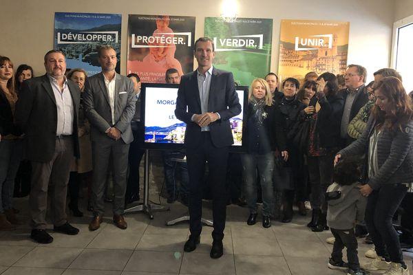 Julien Morganti, au moment de la présentation de son projet pour Bastia, le 7 décembre dernier.