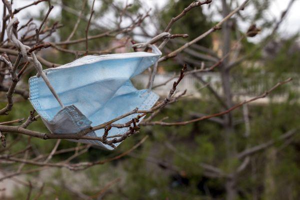Des coureurs ont ramassé plus de 248 masques jetés en pleine nature dans la plaine de la Bièvre lors d'une course pour l'environnement. (Illustration)