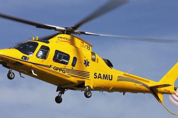 ILLUSTRATION d'hélicoptère du SAMU