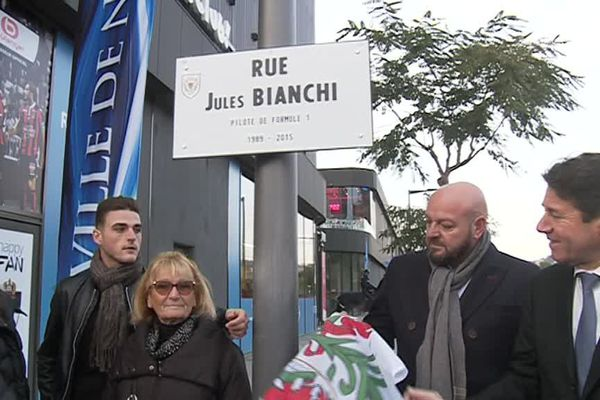 Une rue Jules Bianchi à Nice