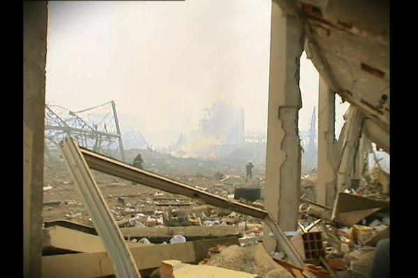 Le souffle des deux explosions a produit des dégâts dévastateurs.