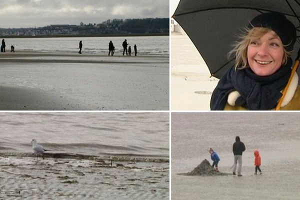 Un samedi au Crotoy, à grande marée basse et sous la pluie.