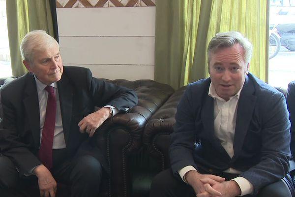 Michel Veunac, maire de Biarritz, repart et présente sa liste  pour les municipales 2020, avec un membre du gouvernement qui y figure : Jean-Baptiste Lemoyne, secrétaire d'Etat au tourisme.