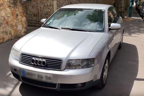 La voiture offerte par le garagiste Slim et le Youtubeur Akram Junior, une Audi A4 TDI d'occasion.