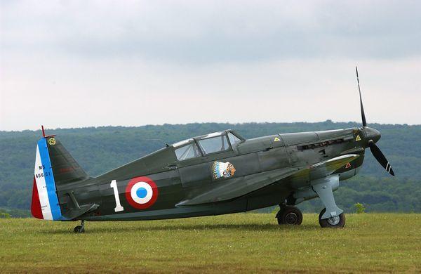 Un Morane-Saulnier MS 406, semblable à celui aux commandes duquel Jan Zumbach livra son premier combat aérien.