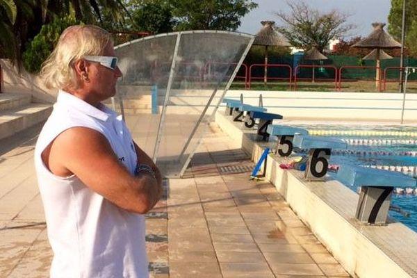 Philippe Lucas et ses nageurs de retour à l'entraînement à Narbonne, dans l'Aude -5 octobre 2016