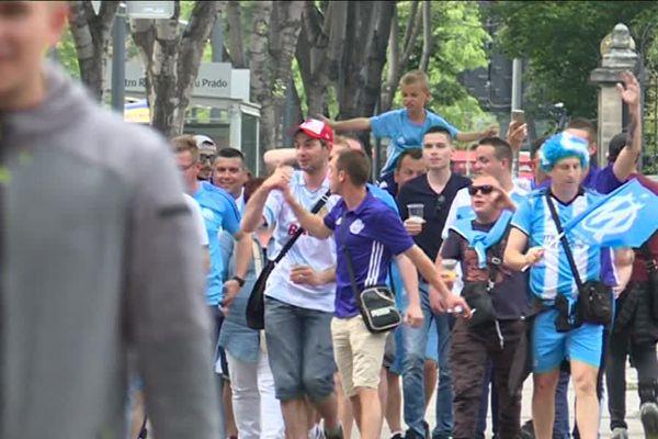Les premiers supporters arrivent à l'Orange Vélodrome