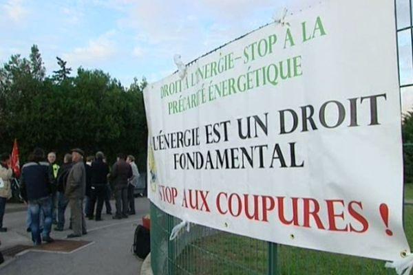 Montpellier - manifestation devant la direction d'ERDF contre les coupures hivernales d'électricité - 8 novembre 2012.