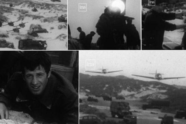 """Le tournage de """"Week-end à Zuydcoote"""" en 1964."""