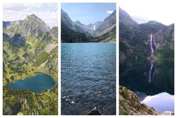 Etang du Laurenti, lac de Gaube, lac d'Oô.