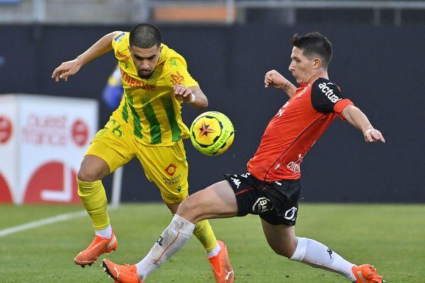 Le FC Nantes vainqueur 0-2 contre le FC Lorient, le 8 novembre 2020