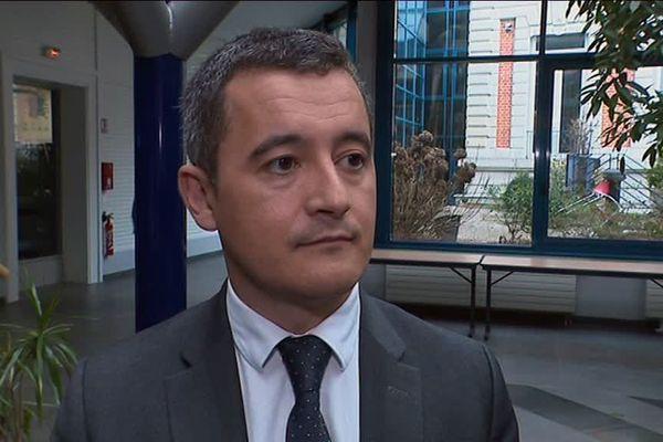 Gérald Darmanin à Lille ce jeudi midi.