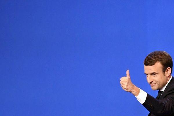 Emmanuel Macron est arrivé en tête du premier tour de l'élection présidentielle, ce dimanche.