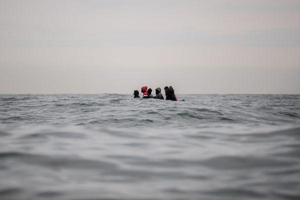 Une embarcation de réfugiés secourue en mer du Nord - Photo d'illustration