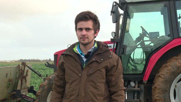 Maxime Gautreau, exploitant agricole à Thiré, dans le Sud-Vendée