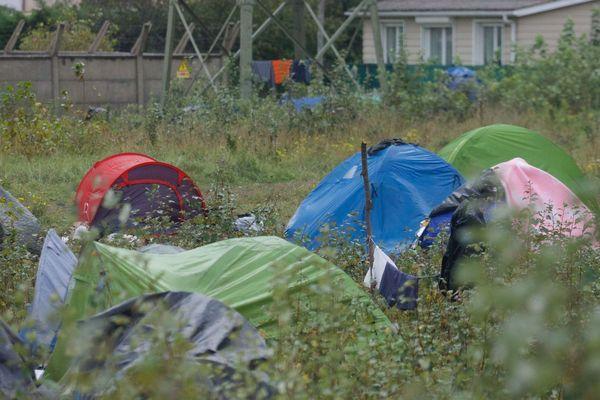 Un campement de migrants à Calais en octobre dernier.