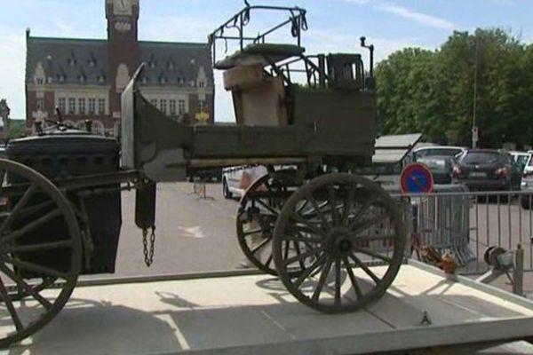 Une cantine austro-hongroise, un véhicule utilisé par l'armée allemande en 1916.
