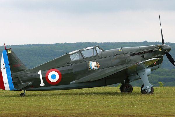 Le dernier Morane Saulnier Ms 406 encore en état de vol. Ce modèle participa à la tentative de riposte de l'aviation alliée au-dessus de Sedan le 14 mai 1940.