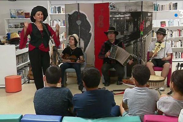 Ajaccio – La fête de la musique aussi dans les quartiers, comme ici à la médiathèque des Jardins de l'Empereur.